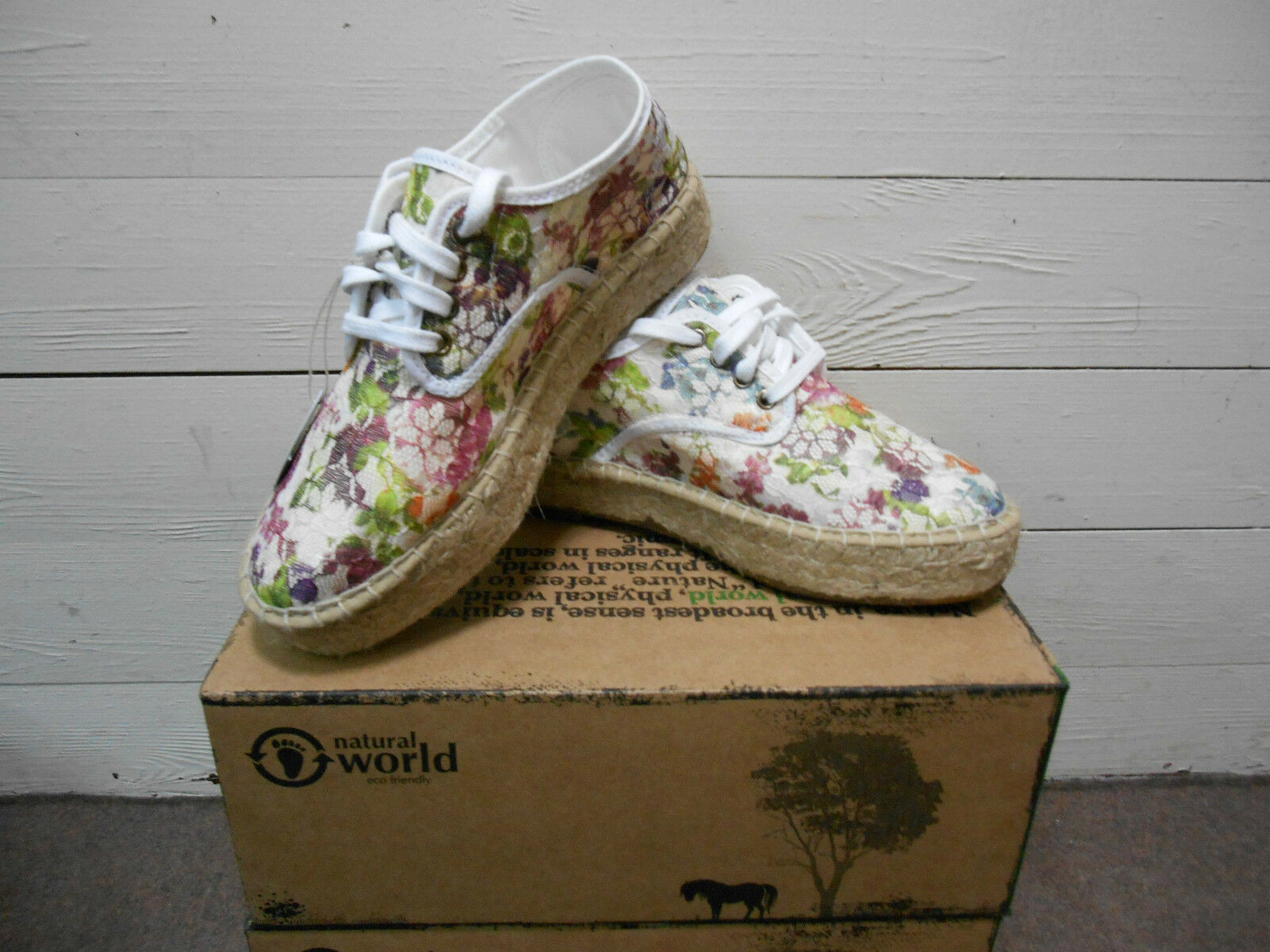schuhe Damens NATURAL WORLD SS 2015 ART.681 COL.705 BLANCO