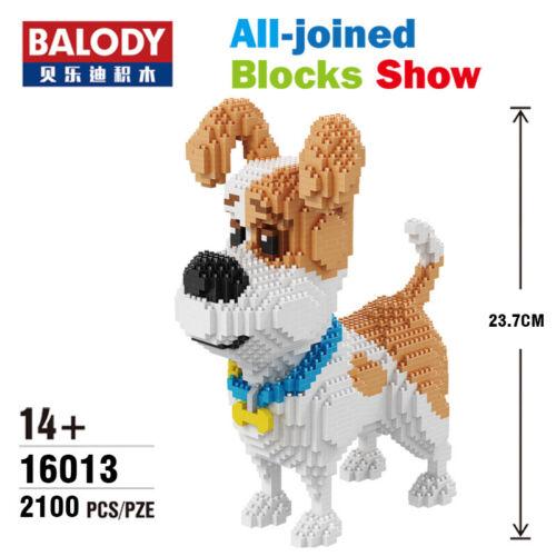 Balody 2100pcs Jack Russell terrier DIY Diamond Mini Building Nano Blocks Bricks