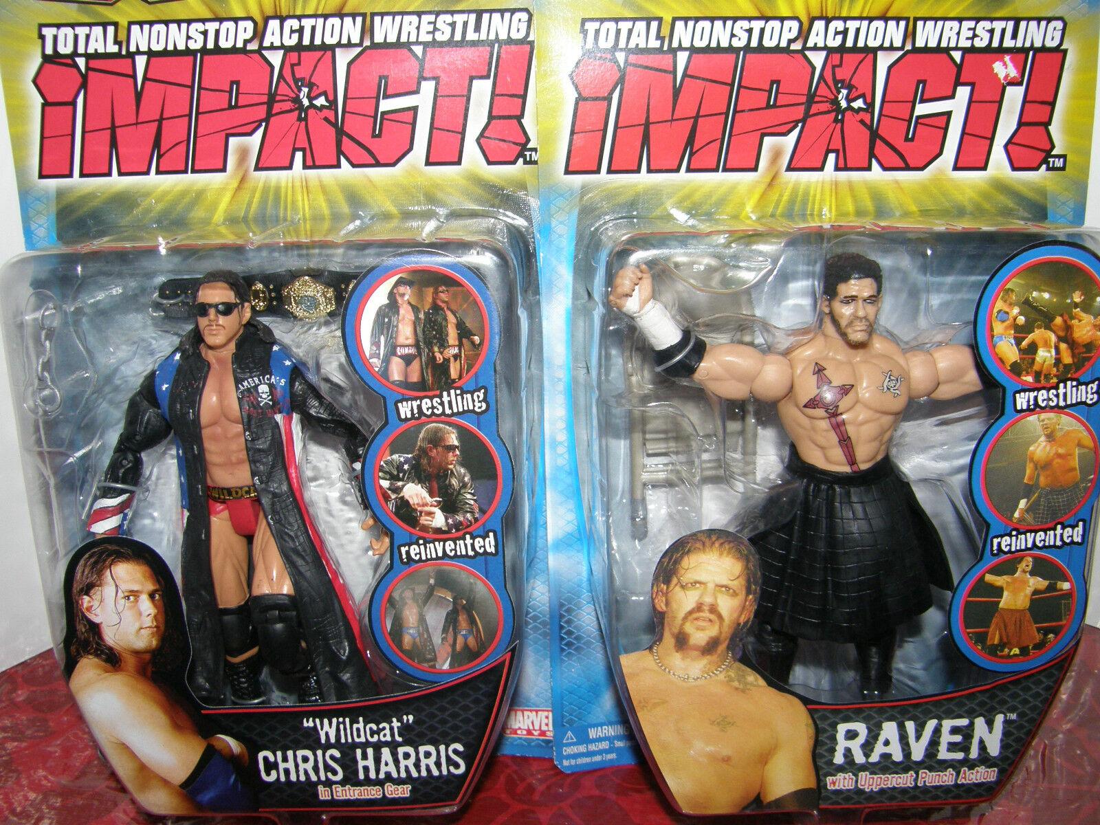 TNA Impact     Wildcat Chris Harris   Raven      2005 nostalgic  action figure