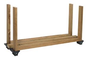 Pack-of-1-Firewood-log-Rack-Storage-Kit-Outdoor-Fire-Wood-Black-Heavy-Gauge-New
