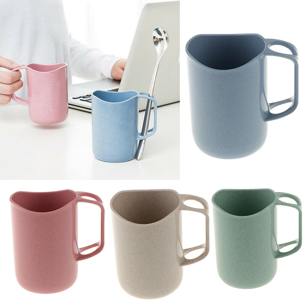 Wheat Straw Toothbrush Holder Cup Wash Cup Tooth Mug for Travel Camping