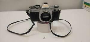 Film Camera Canon AE -1 Silver Body Used 002 operation check