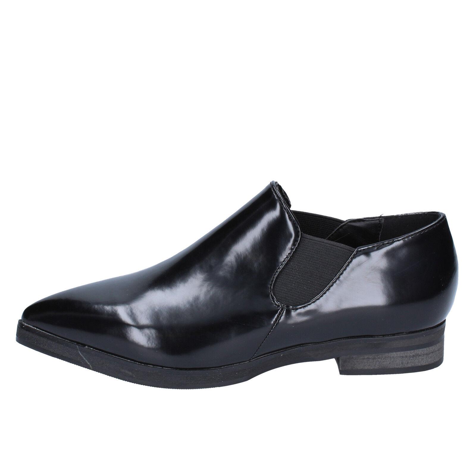 scarpe donna FRANCESCO MILANO 37 slip on nero pelle BX327-37
