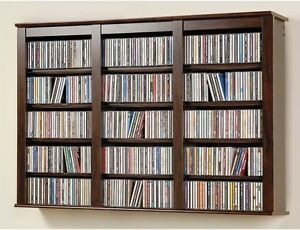 Image Is Loading Wall Mounted Storage Cabinet CD DVD Blu Ray