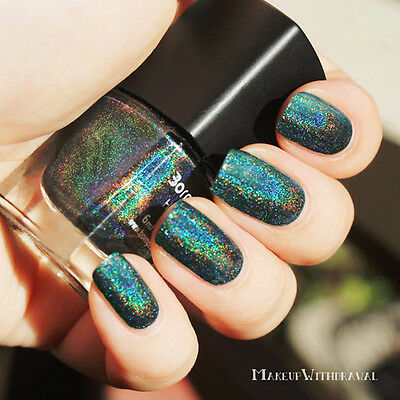 12Color Born Pretty Holographic Holo Glitter Nail Polish Hologram Effect