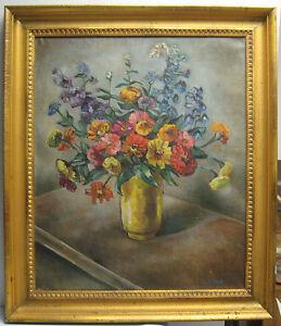 Hazel Finck 1936 Modernist O C Midsummer Flowers Listed New