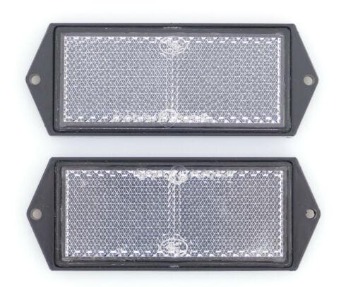 2 x Rückstrahler Reflektor weiss 104 x 40mm Seitenstrahler PKW Anhänger WoWa