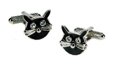 Owl Design Cufflinks Gift Box Onyx-Art London Dad Fathers Day Work Bird CK809