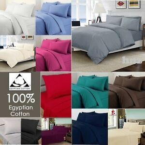 En coton égyptien 200 fils au pouce Flat draps linge de lit