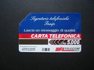 SCHEDA TELEFONICA TELECOM- Mantegazza Arti Grafiche- Segreterie Telefoniche