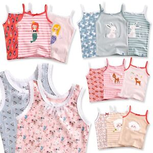 2//4 Pack Baby GIRLS Printed UNDERSHIRT Camisole TANK Top Infant Girl Clothes