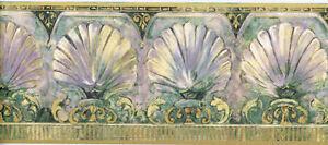 Classic Seashells with Scrolls Wallpaper Border   TS38009B