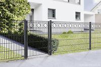 Gartentor Valencia Anthrazit 1005mm F. Doppelstabmatte Gittermatte Zaunmatte Dsm