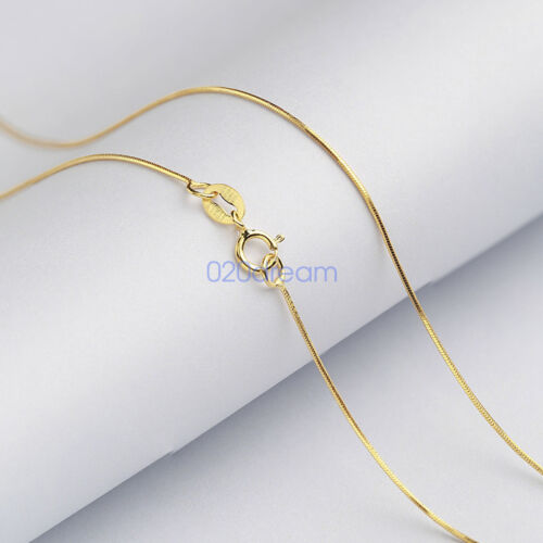 """Genuine Solid 925 Sterling Silver//Gold//Rose Chain Necklace 16/""""18/""""20/""""22/""""24/""""28/"""""""