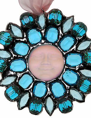 """Kirks Folly SEAVIEW MOON  """"ONE OF A KIND"""" ORNAMENT silvertone DICHROIC GLASS"""