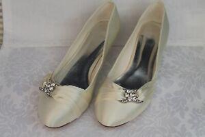 Brautschuhe Hochzeitsschuhe Pumps Schuhe Ivory Creme 40 kl
