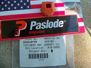 """NEW"" Paslode  Part # 404180 TIP, DEEP DRIVE (T250 / 3250F16/IM250S<wbr/>S)"