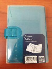 Aquamarine Filofax Saffiano Personal Organiser