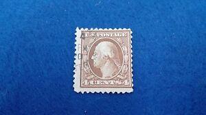Sello Estados Unidos 4 Cents G Washington 1909, scott 377. Stamp U.S. Postage