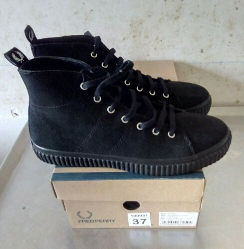 37 New Fred Suede Perry Eu Mid Nero Ellemere And Box Nuevo 0wqZSwOX