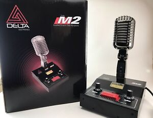 8-PIN-for-KENWOOD-BLACK-CHROME-DELTA-M2-AMPLIFIED-POWER-BASE-MICROPHONE-HAM-MIC