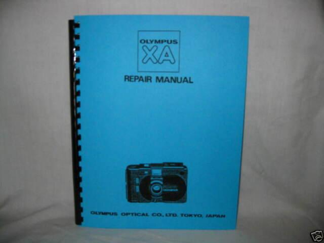 Olympus XA Camera Factory Repair Manual