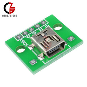 10PCS Mini USB to DIP 2.54mm Adapter Converter for PCB Board Power Supply