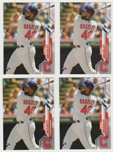 2020-Topps-Series-1-BOBBY-BRADLEY-RC-Rookie-40-x4-Card-Lot-Cleveland-Indians