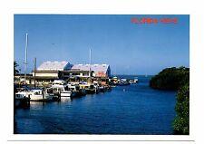 Florida Keys Postcard Boating Fishing Paradise Marina Restaurant Boats Unposted