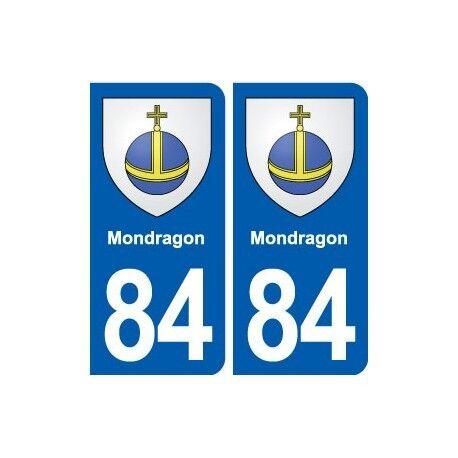 84 Mondragon blason autocollant plaque stickers ville droits