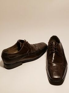 Viotti  Mens Stylish Dress Shoes Oxfords Brown Faux Leather 9.5