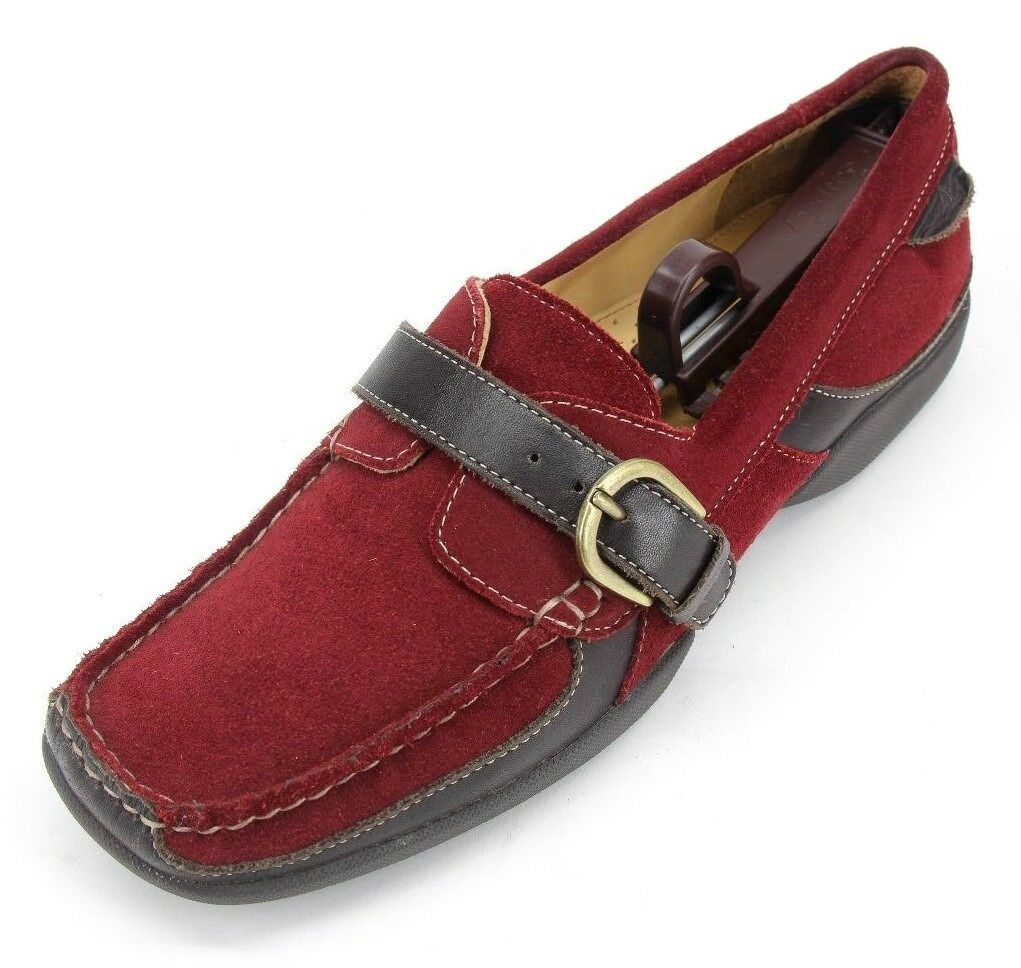 Sperry Top-Sider Women's Bristol Buckle Burgundy S Slip-On Loafers Size US 9.5 M