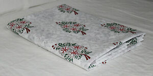 Indian-Handmade-2-5-Yard-Floral-Hand-Block-Print-Fabric-100-Cotton-Voile-Fabric