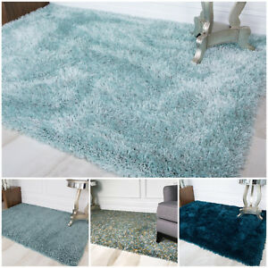 Cosy-Thick-Soft-Blue-Shaggy-Rug-Fluffy-Duck-Egg-Teal-Non-Shed-Living-Room-Rugs