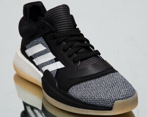 343ec7186b12bb adidas Marquee Boost Low Men s New Black White Basketball Sneakers ...