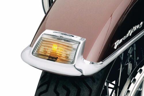 NEW Kuryakyn Front HARLEY Smoke Fender Tip Lens and Bulb Kit 4824