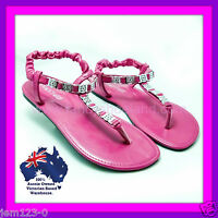 Womens Shoes Size 9 12 Hot Pink Flat Shoes Big Size Shoes Flip Flops In Pink