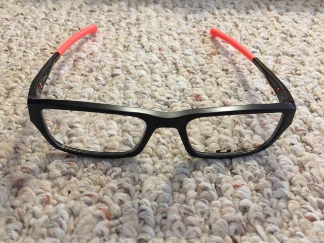 6a0ac3ab16d2 Oakley Chamfer Black/neon Red Prescription Eyeglasses Glasses Frames for  sale online   eBay