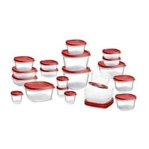 Rubbermaid Easy Find Lid Food Storage Set, Plastic, 42-Piece