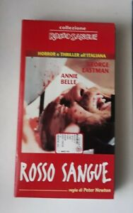 VHS-rosso-sangue-film-di-Joe-D-039-Amato-collezione-horror-e-thriller-all-039-italiana-c