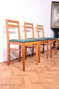 vintage 3 sch ne bauhaus st hle polsterstuhl k chenst hle holzst hle le. Black Bedroom Furniture Sets. Home Design Ideas