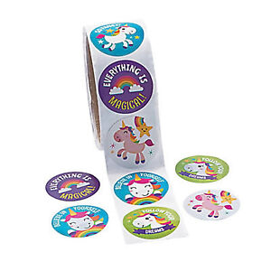 Unicorn-Stickers-Rainbow-Unicorns-Favours-Party-Gift-Fun-Pack-of-50-Free-Postage