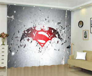 Red Circle Face White Eye Deadpool Printing 3D Blockout Curtains Fabric Window