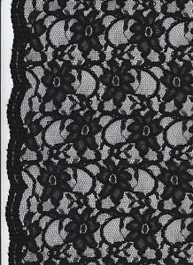 spitzenstoff schwarz spitze mit bogenkante spitzen schwarzer stoff mit spitzen ebay. Black Bedroom Furniture Sets. Home Design Ideas