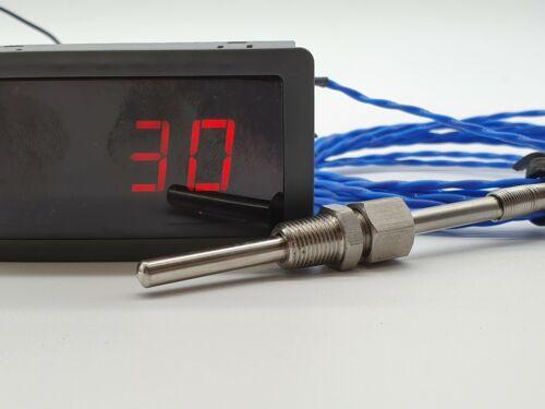 "EGT Exhaust Temperature Gauge Kit diesel//essence 1//8/"" NPT Capteur 3 m"