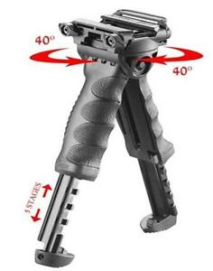 Tactical Vertical Rotating Fore Grip Bipod Rifle TRIPOD BLACK foregrip