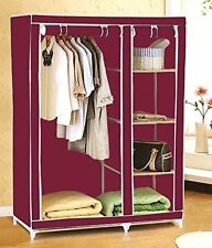 Anything & Everything New Foldable Wardrobe Almirah Cupboard Portable Storage RW