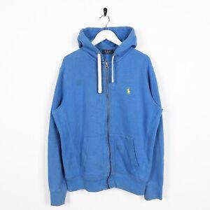 Dettagli su Vintage Adidas Piccolo Logo Felpa con Cappuccio Blu Grande SINISTRA