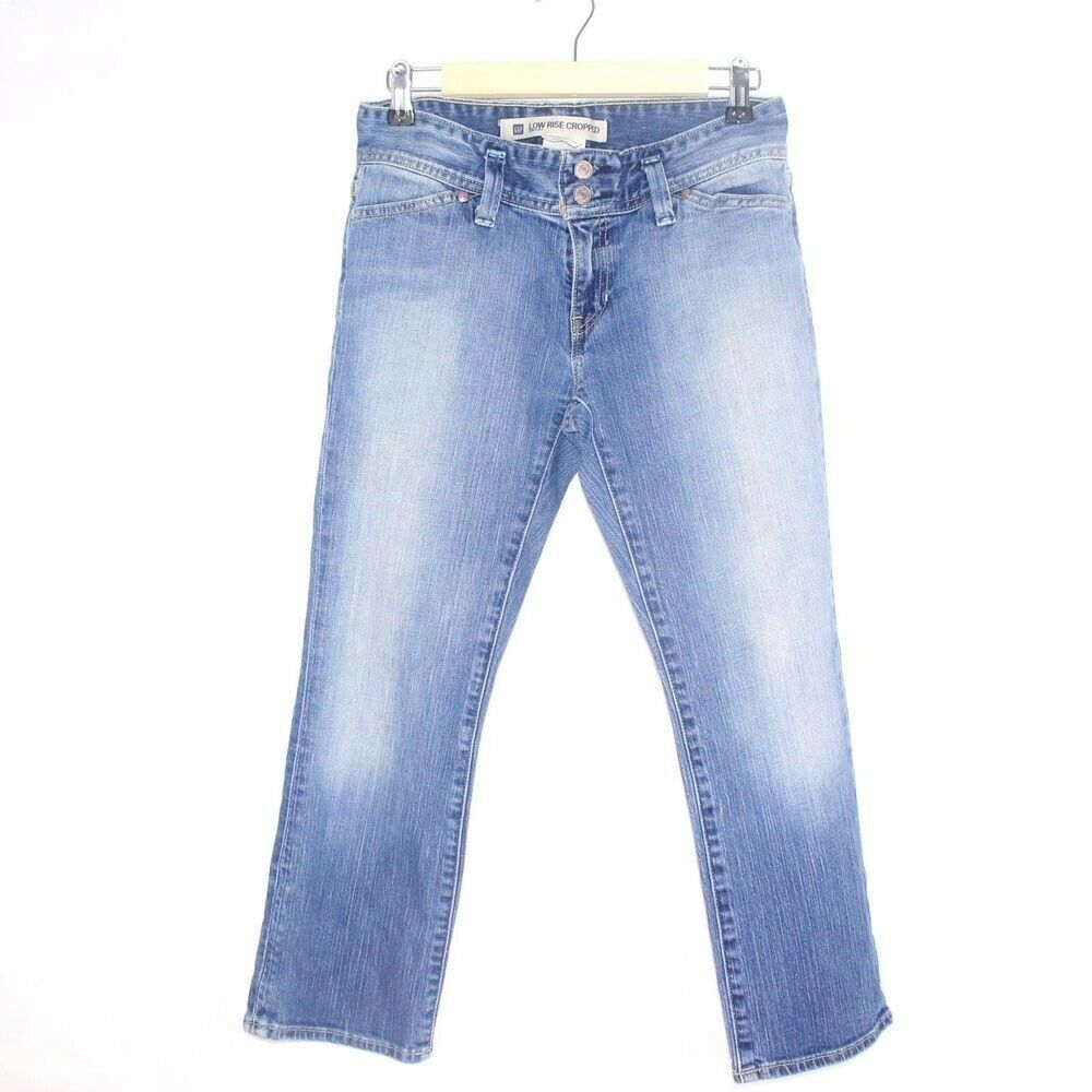 Gap Stretch Low Rise Cropped Light Wash bluee Jeans Size 1