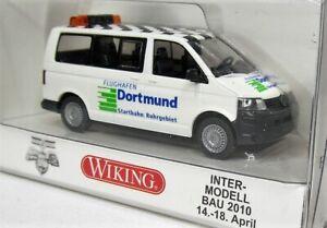Wiking-1-87-VW-t5-furgoneta-Multivan-OVP-0308-72-aeropuerto-dortmund-intermodellbau